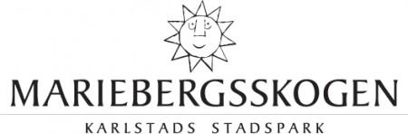 Mariebergsskogens logotyp i svartvitt